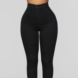 Fashion nova super high waist skinny jeans black